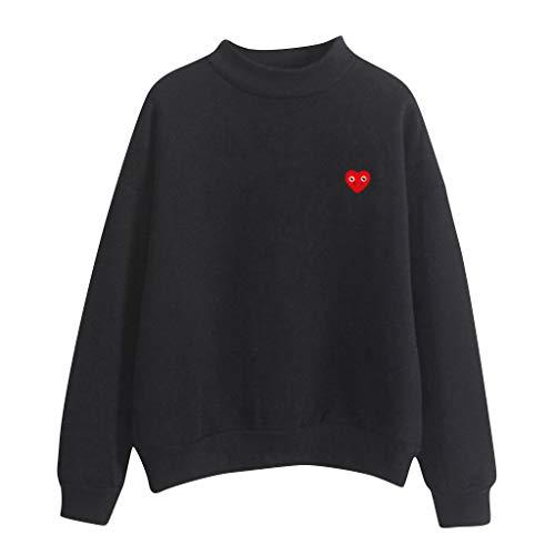 VJGOAL Tops Damen Große Größen Pullover Sweatshirt Frauen Mädchen Klassisch Einfarbig Freizeit Wild Lange Ärmel -