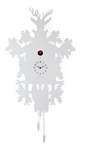 Diamantini & Domeniconi Cucu Kuckucksuhr weiss Kuckuck rot design pascal tarabay