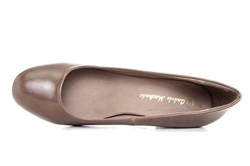 Andres Machado.AM5002.Escarpins Classiques en Soft.Petite et Grandes Pointures du 32/35. 42/45.Pour Femmes. softtaupe