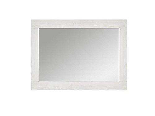 Innostyle Landhaus - Espejo 100 x 65 cm con Marco en alerce, Madera, Blanco