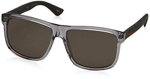 Gucci Herren GG0010S 004 Sonnenbrille, Grau Grey, 58