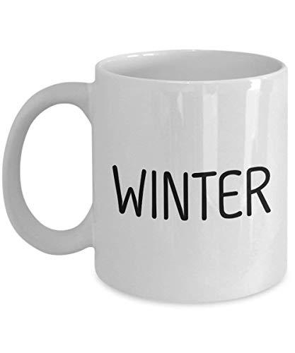Einzigartiges Geschenk für weiße Kaffeetasse des Winter-11oz - Personenname 16 Oz Sip-top
