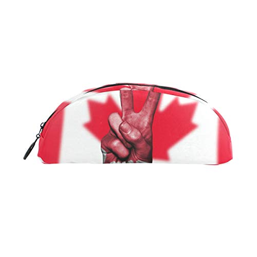 MalpLENA Federmäppchen, Leder, Motiv Kanada-Flagge
