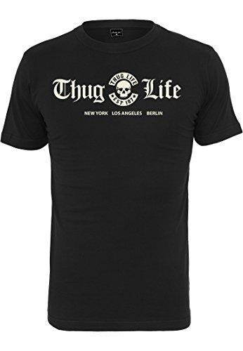 Thug Life T-shirt (Thug Life Cities T-Shirt schwarz (M))