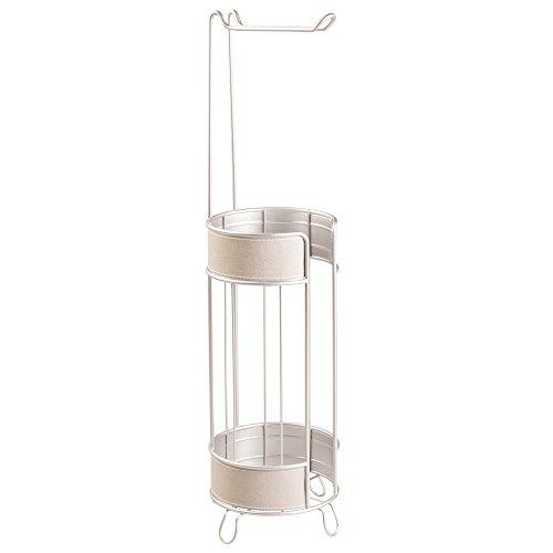 interdesign-lauren-free-standing-porta-rotolo-di-carta-igienica-per-bagno-in-acciaio-grigio-satinato