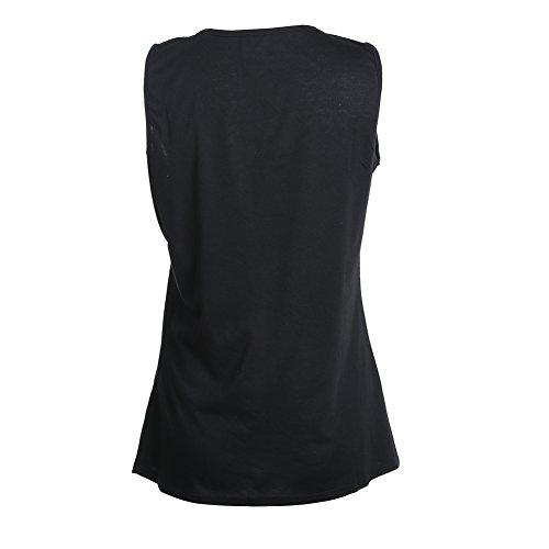 La Cabina Débardeurs Sexy Femme -T-Shirt -Tops Court Halter-Femmes Gilet Débardeurs Bustier Noir
