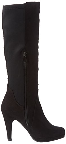 001 Tozzi black Damen 25503 Langschaft Stiefel Schwarz Marco d0WOnxd