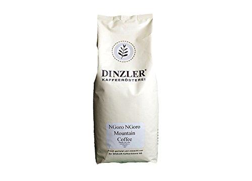 Dinzler Kaffeerösterei, NGoro Ngoro, Spitzenkaffee aus dem Herzen Afrika, 1000g ganze Bohne, bester Filterkaffee / Pour Over