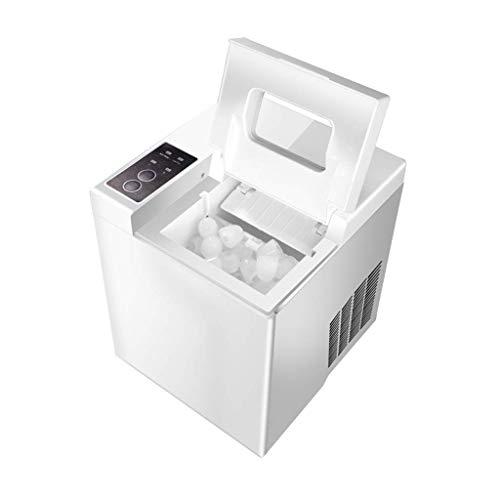 TYUIO Portable DIGITAL Ice Maker Machine Mit Eisportionierer, erstes EIS in 8 Minuten, 26 Pfund täglich, ideal für Küchen, Heckklappe, Bars, Partys, kleine/große Würfel, Weiß - Mit Ice Maker Kühlschränke