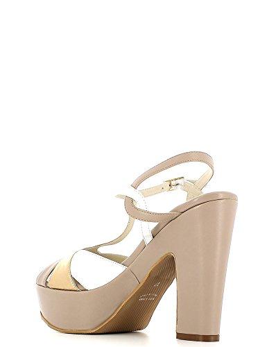 GRACE SHOES CR40 Sandalo tacco Donna Sabbia/Bianco
