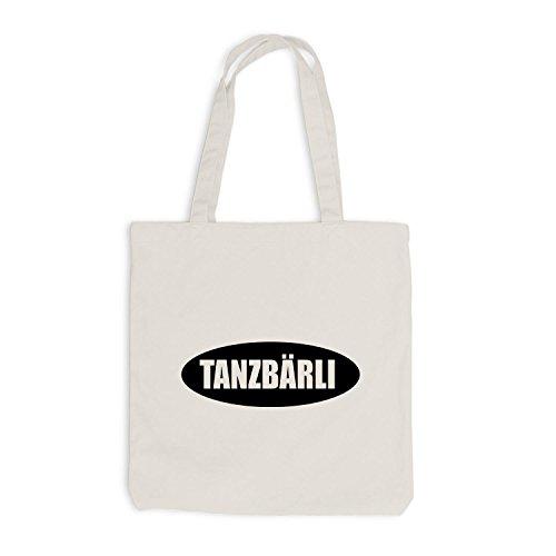 Jutebeutel - Tanzbärli - Party Fun Style Beige