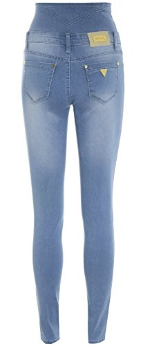 Femmes Taille Haute Jean Taille 6 - 16 jeans bleu clair