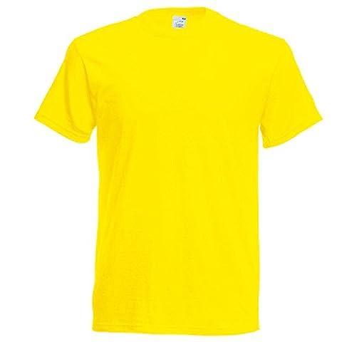 Fruit of the Loom SS022M, T-Shirt Homme, Yellow (Sunflower Yellow), Moyen