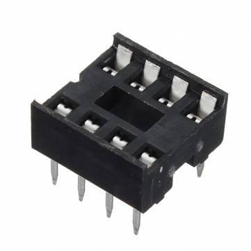 60pcs 8 Pin DIP IC-Sockel-Adapter PCB Solder Steckverbinder Stecker Dip-solder