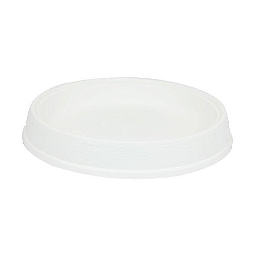 Soucoupe support Massive en plastique de diam. 45 cm, en blanc