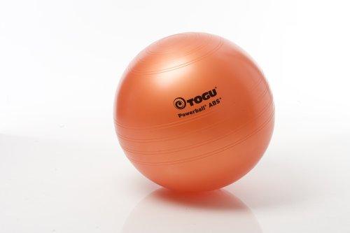 Togu Gymnastikball Powerball ABS mit DVD (Berstsicher), terra, 65 cm