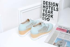 hexiaji 21cm-26.5ccm chaussure femme chaussure à talon haut chaussure rose blanche Bleu