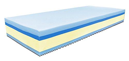 Baldiflex Materasso Singolo Memory Plus Top Fresh 4 Strati 80 x 190 cm Alto 25 cm - Rivestimento Sfoderabile Aloe Vera Cus. Saponetta Incl.