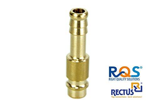 1 Stück Rectus RQS Druckluftstecker für Schnellkupplung RQS (TYP 26) mit Schlauchanschluss in der...