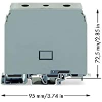 Wago 400-415/415-556 bloque de terminales Gris - Electrical terminal block (26 mm, 95 mm, 72,5 mm, 1000 V)