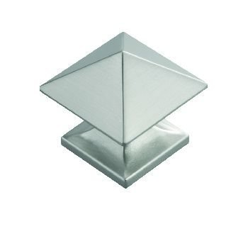 Hickory Hardware P3014-SN 1-Inch Square Studio Collection Cabinet Knob, Satin Nickel by Hickory Hardware - Collection Satin Nickel Cabinet Knob
