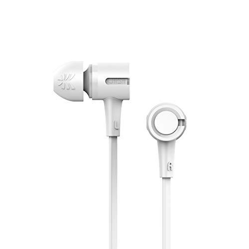 UiiSii U7 Deep Bass CD-Like in-Ear Earphones U7 Dynamic Driver Deep Bass CD-Like in-Ear Earphones Unique CD-Like Design, Powerful Bass, Environmental TPE Cable, Full Compatibility (White)