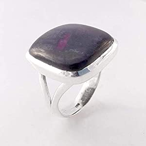 Natural Amethyst Solid 925 Sterling Silver Ring Jewelry