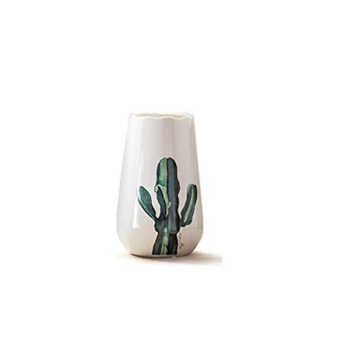 Kehuitong Décoration de vase à la maison, décoration de vase en céramique, vase en céramique à la main créative, Jingdezhen vase en céramique blanche de haute qualité peinte à la main de haute qualité