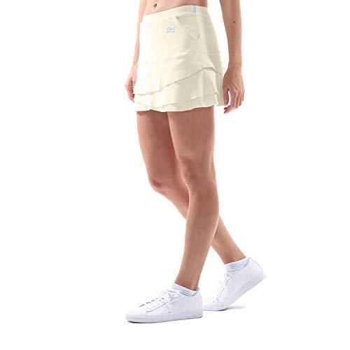 Sportkind Mädchen & Damen Tennis, Hockey, Golf Tulip Rock mit Taschen & Innenhose, Creme, Gr. 134