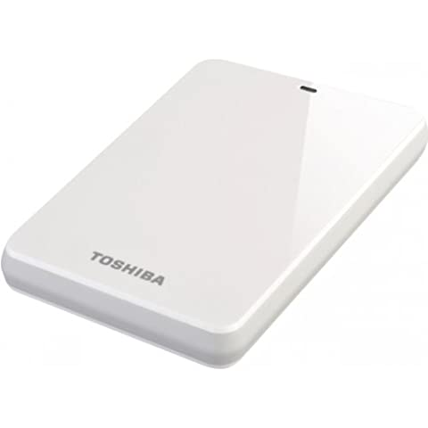 Toshiba HDTC610EW3B1 - Disco duro externo de 1 TB (2.5'', USB 3.0), blanco