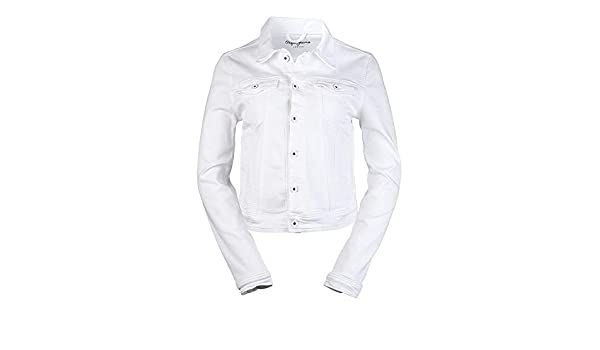 Pepe Jeans Core Jacket - Jeansjacke, Größe Bekleidung L, Farbe White  Amazon .de  Bekleidung e199de3efc