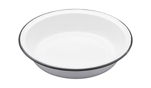 Kitchen Craft Auflaufform Living Nostalgia rund 22cm in weiß/grau, Porzellan, 22.5 cm (9 inches) -