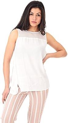 Only Onlwonder S/L Mesh Top Wvn, Camiseta sin Mangas para Mujer