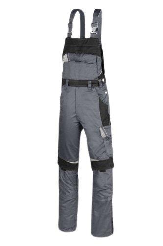 BESTWORK Latzhose grau/schwarz GR 090