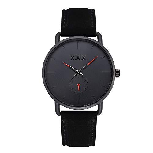 Armbanduhr, Quarz-Uhrwerk, Velourslederarmband Schwarze Velourslederoptik