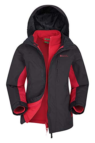 Mountain Warehouse Chaqueta Cannonball Impermeable Infantil - Triclimate Transpirable, Costuras Selladas, Capucha...
