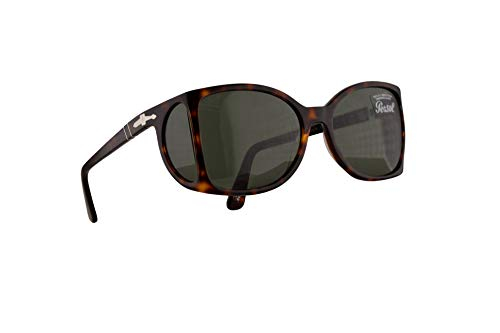 Persol 0005-S Sonnenbrille Havana Braun Mit Grünen Gläsern 54mm 2431 PO 0005S PO0005S PO0005-S
