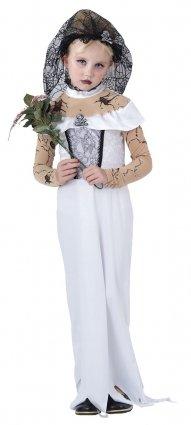 Filles Costume Zombie Dead Zombie Bride Costume Mariée Fancy Dress (Mariee Zombie Kostüm)