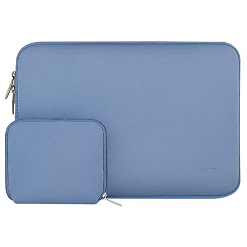 MOSISO Wasserabweisend Neopren Hülle Sleeve Tasche Kompatibel 12,3 Zoll Microsoft Surface Pro 6/5/4/3, 11-11,6 Zoll MacBook Air, Ultrabook Tablet Laptophülle Laptoptasche mit Klein Fall, Serenity Blau
