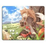 Preisvergleich Produktbild Spice And Wolf Kraft Lawrence Holo Mouse pads Anime Game Manga Comic ACG Customized Made to Order Support Ready 9 7/8 inch (250mm) x 7 7/8 inch (200mm) x 1/16 inch (2mm) High Quality Eco friendly Cloth with Neoprene rubber woocoo mouse pad desktop mousepad laptop mousepads comfortable computer mouse mat cute gaming mouse_pad