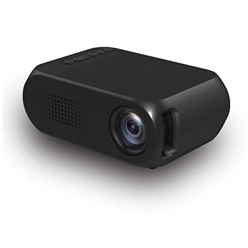 H&T Tragbarer Pico-Projektor, Mini-Videoprojektor mit USB/HDMI-Unterstützung 1080P-Film für Outdoor- / Heimkino-Unterhaltung,C - Dvd-filmen Von Lebensdauer