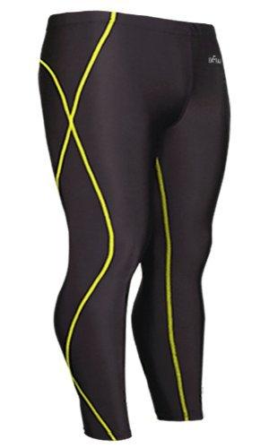 emFraa Men's Skin Tights Leggings Running Base layer Compression Pants