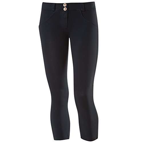 Freddy WR.UP Women's Shaping Effect Low Waist Corsair Style Trousers - Dark Blue, Small