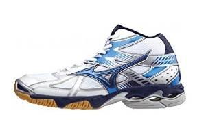 Mizuno WaveBolt 4 Mid white/blue scarpa da pallavolo m (EU 46.5)