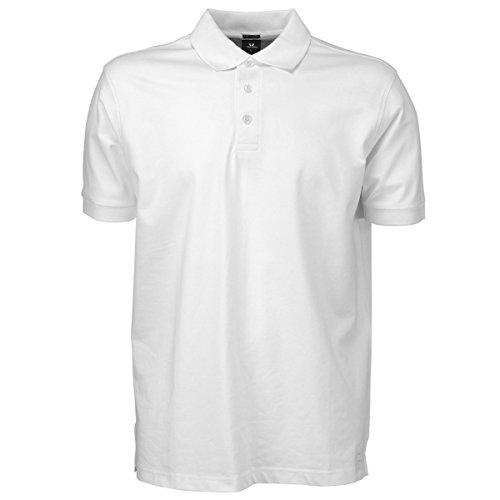 Tee Jays Herren Luxury Stretch Polo-Shirt, Kurzarm (L) (Weiß)