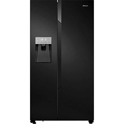 Hisense RS694N4TB1 Side-by-side American Fridge Freezer With Non Plumbed Ice & Water Dispenser - Black Best Price and Cheapest