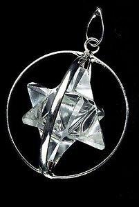 Beautiful Natural claro cuarzo Merkaba Spinning Star colgante energía positiva paz moda joyas hombres mujeres curación Wicca Divine salud éxito accesorio Reiki meditación potente