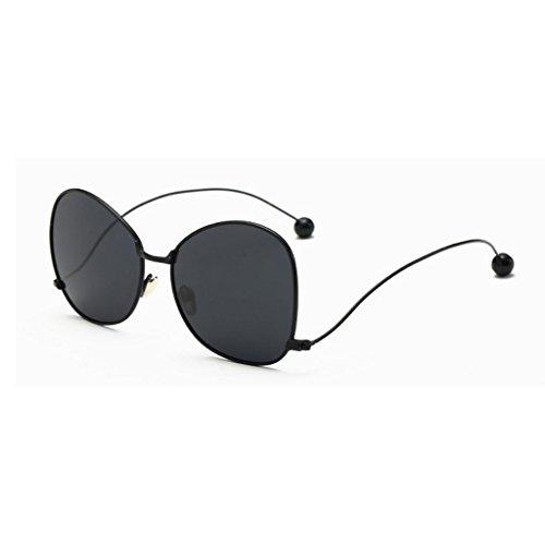 RYRYBH Sonnenbrille Metallkugel Flacher Spiegel Polarisierte Sonnenbrille Metallrahmen Mode Persönlichkeit Strand Sonnenbrille TAC Objektiv Sonnenbrille Sonnenbrille