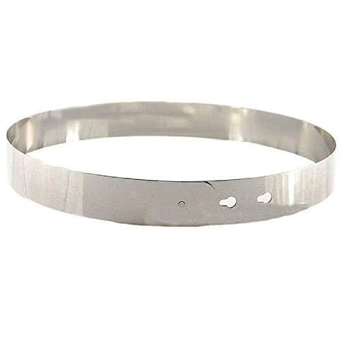 Cebbay Cinturones Ajustados de Las Hojas del Metal de Las Mujeres Cintura Cinturones elásticos para los Vestidos Cintura Decorativa