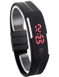 SwadesiStuff Black Unisex Digital LED Watch(BUY 1 GET 2 FREE)